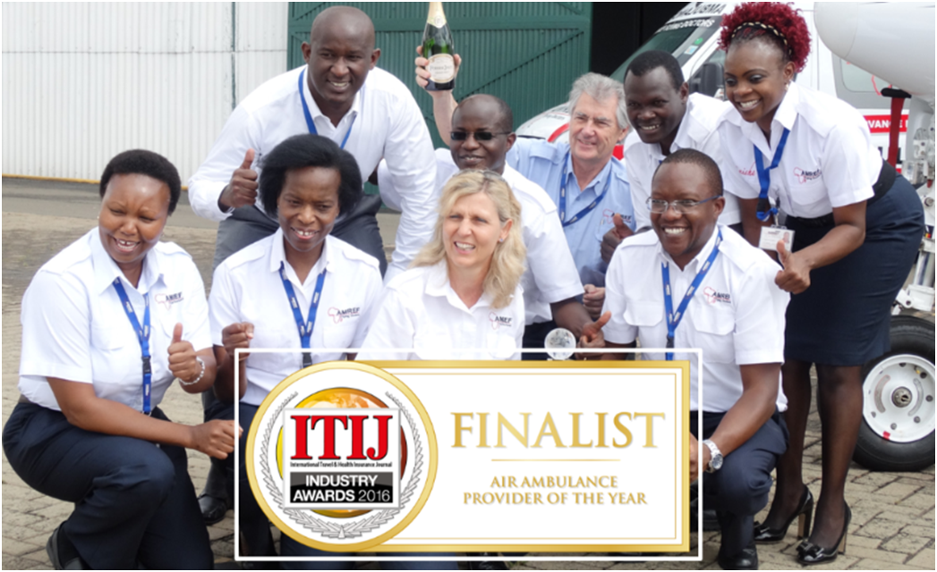 AMREF Flying Doctors a finalist in the ITIJ Air Ambulance Provider of the Year Award, 2016