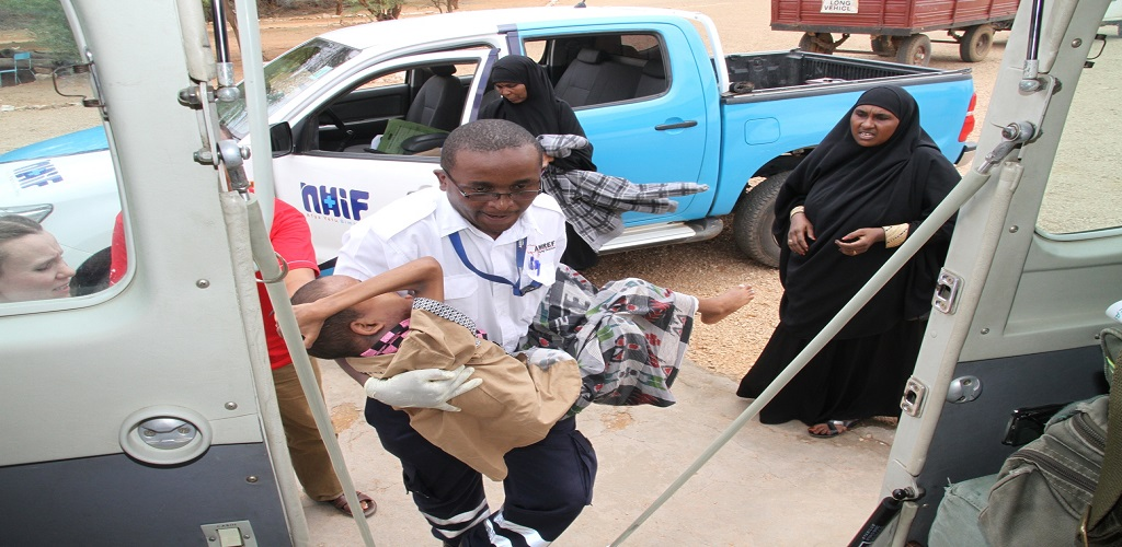 Ten-year-old tumour patient Evacuated from Mandera for specialised care